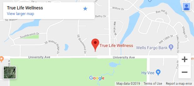 Waukee IA Chiropractic Map